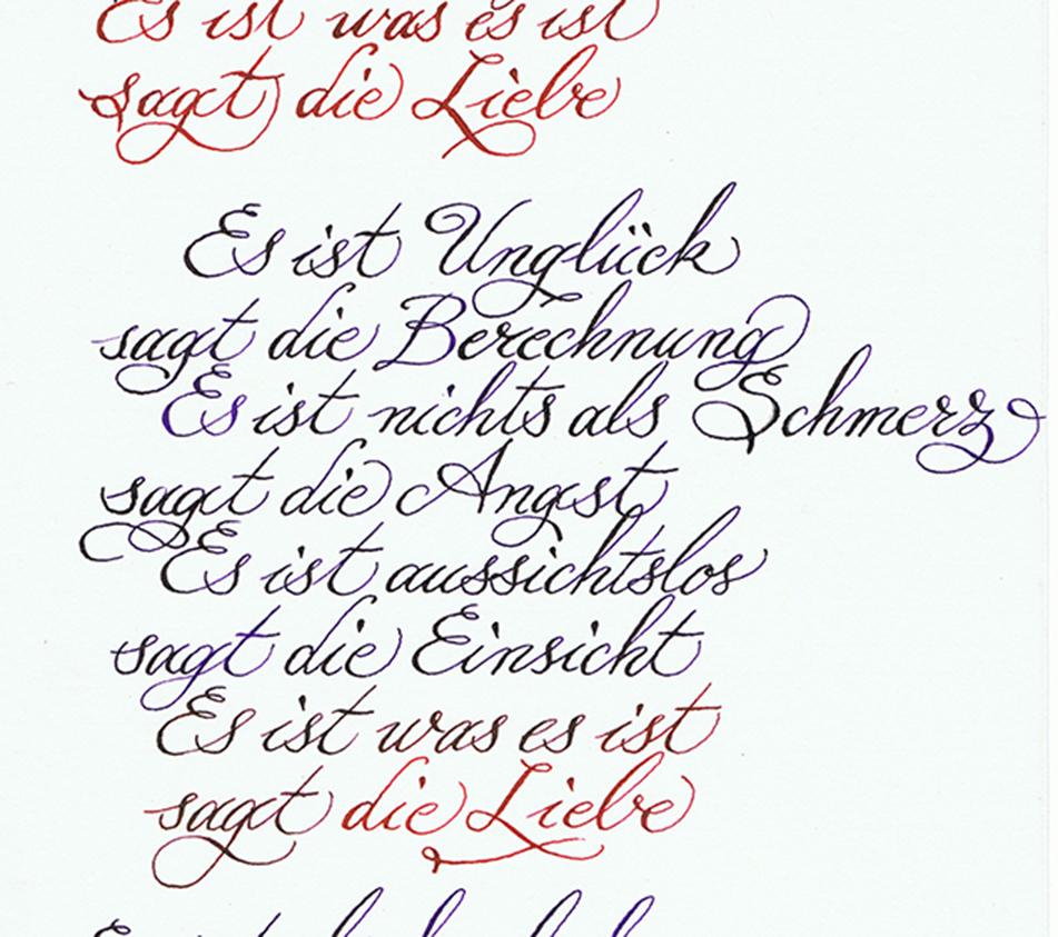 Liebesgedicht Es ist was es ist von Erich Fried
